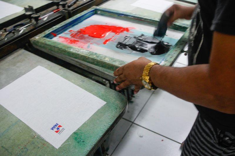 Curso de serigrafia integra a capacitação oferecida no projeto executado pela Fasepa e Fábrica Esperança