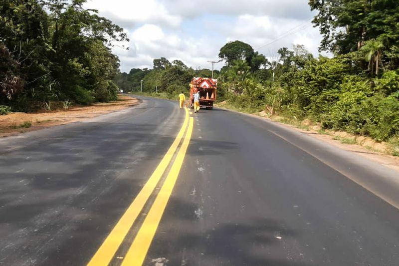 A requalificação das rodovias estaduais é um dos objetivos da ação do governo em várias frentes de trabalho pelo Estado