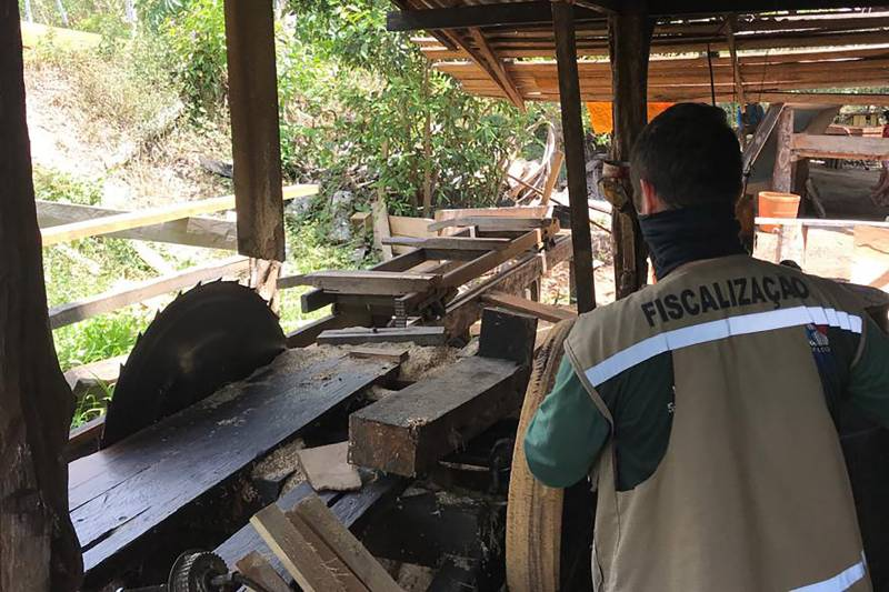 Illegal sawmill closed in Bagre