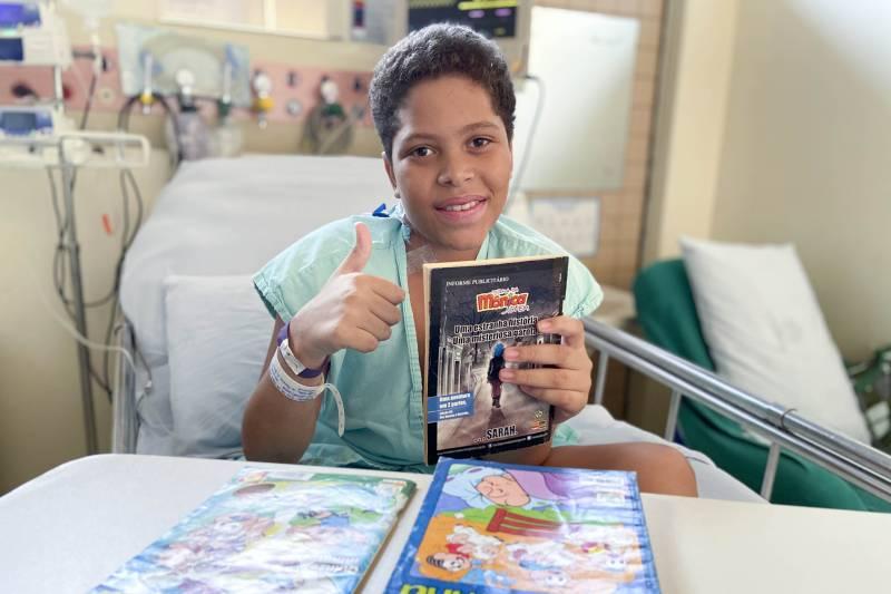 Samuel, leitor dos gibis da Turma da Mônica, continuará tendo o acompanhamento da equipe do HRPT