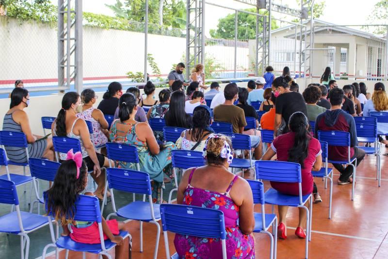 A ação foi realizada na Escola Estadual de Ensino Fundamental Marilda Nunes, no Bengui, um dos bairros do TerPaz