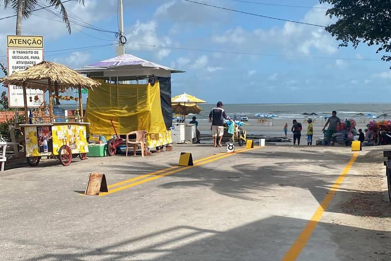 O acesso à Praia do Farol Velho agora está mais seguro e bem mais rápido