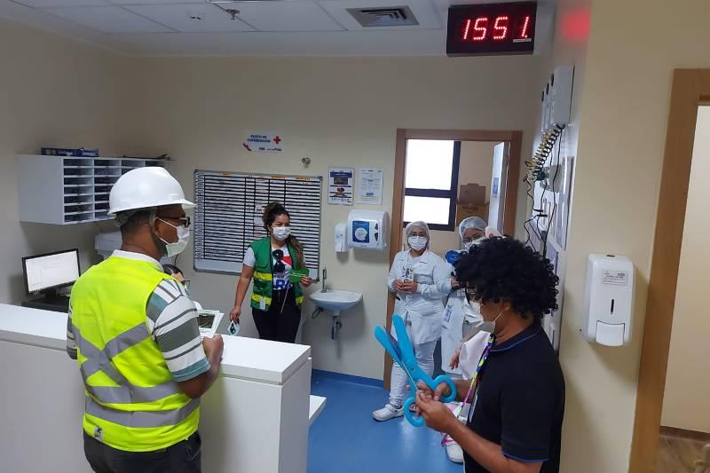 A programação lúdica envolveu funcionários de todos os setores do Hospital Regional Dr. Abelardo Santos