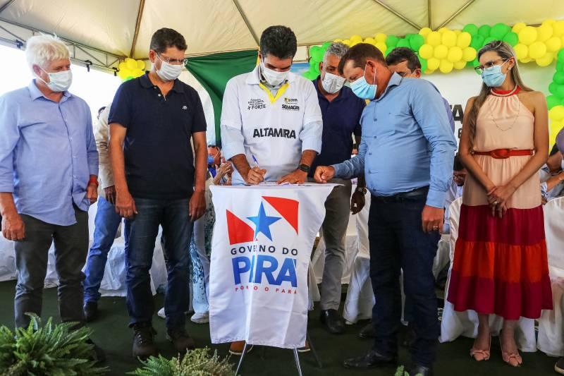 Governador também garantiu à Prefeitura de Brasil Novo recursos para compra de óleo diesel