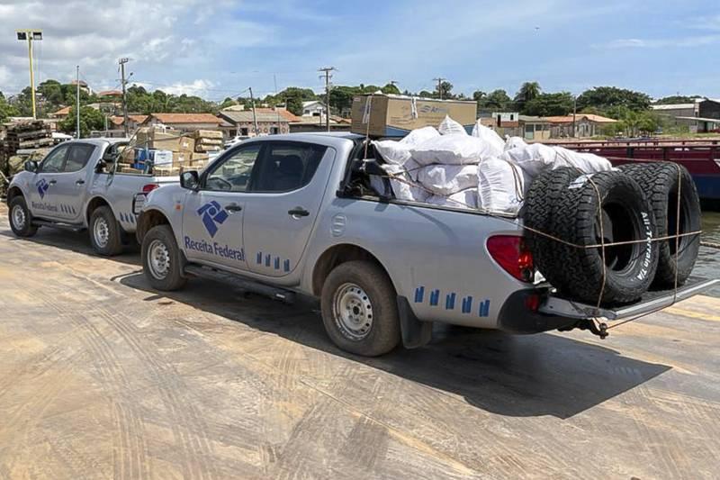 A equipe da Receita Federal foi acionada por se tratar de material importado