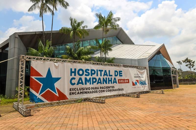 Hospital de Campanha instalado pelo governo do Estado no Centro de Convenções da Amazônia, em Belém