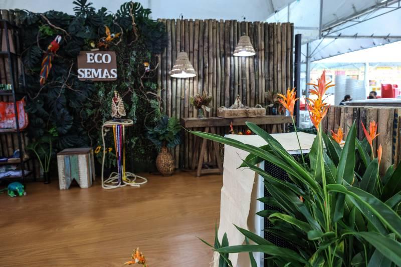 Espaço do Projeto Eco Semas, desenvolvido pela Secretaria com uma série de ações