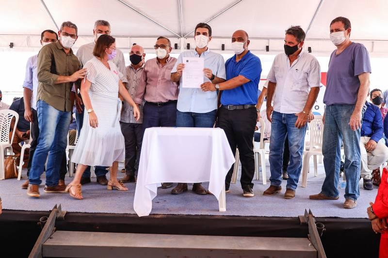 Governador Helder Barbalho assinou a ordem de serviço em Jacundá, município beneficiado pela obra