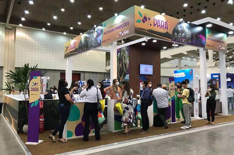 Estande do Pará na feira de turismo promovida pela Associação Brasileira dos Agentes de Viagem