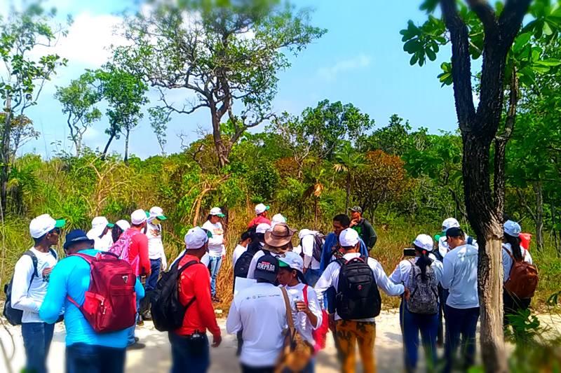Os participantes estão recebendo vários conhecimentos sobre as duas áreas de proteção
