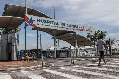 A unidade, que funciona ao lado do Hospital de Campanha, atende desde 31 de outubro de 2020