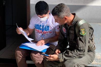 Militares do Graesp levam as vacinas ás Regionais de Saúde