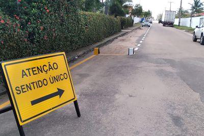 A mudança de sentido também melhora o tráfego na área