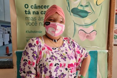 Jesiane Laise continua o tratamento no 'Ophir Loyola'