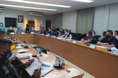 Na reunião também foi avaliado o protocolo de segurança