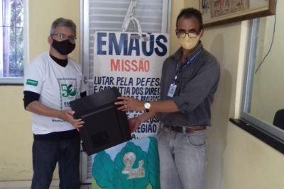 José Maria Dias (e) e Roberto Mendes, gerente de TI da AGE
