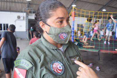 Tenente e piloto Suzane Silva coordenou a ação social