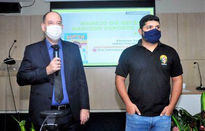 Secretário Romulo Rodovalho (e) e o diretor de Vigilância em Saúde da Sespa, Denilson Feitosa